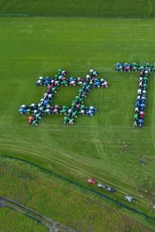 Een weiland vol Trotse Jonge Boeren in Maarheeze: 'geef ons het vertrouwen om door te gaan'