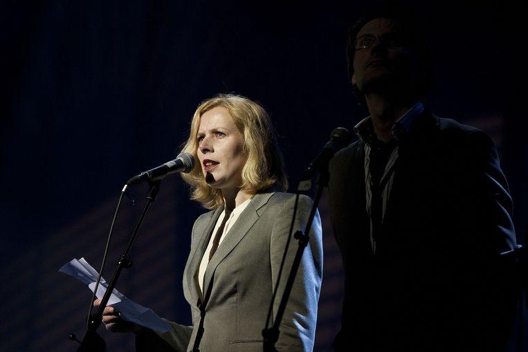 Schrijfster Esther Gerritsen tijdens het Boekenbal.
