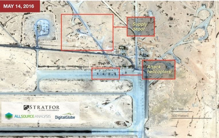 De T4-luchtmachtbasis een aantal dagen voor de aanvallen van IS. Beeld www.straftor.com