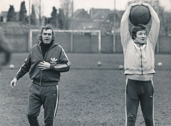 Ernst Happel. Oostenrijkse voetballer en coach. Feyenoord. 1974.