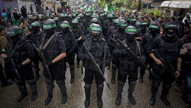 Leden van de Hamasbeweging in Gaza-Stad. (Archiefbeeld) Beeld ap