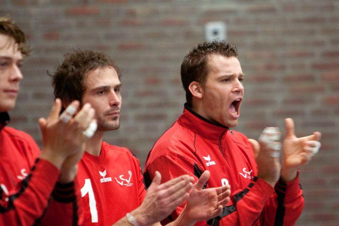 Sander Lem (rechts) en Rowan van Vreede, hier nog spelers van VCV, spelen zaterdag met VV Utrecht tegen hun oude club.