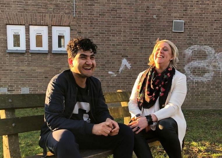 """Hilde Vautmans samen met Jawad: """"Ik hoop dat veel andere Truienaren ook overwegen om buddy te worden van een asielzoeker."""""""