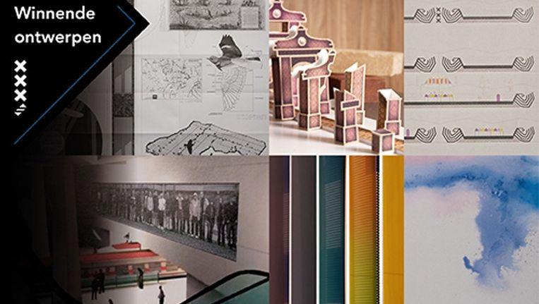 Een compilatie van de winnende kunstwerken Beeld hierzijnwij.nu
