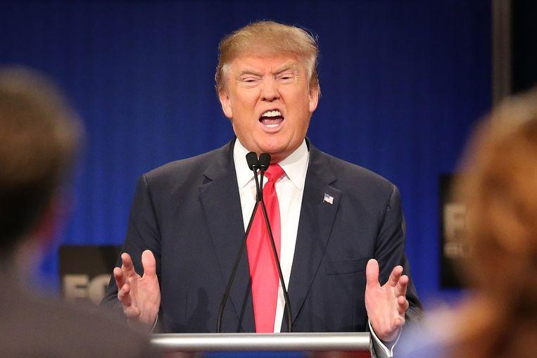 Donald Trump was in het debat, zo blijkt uit onderzoek van NPR-radio, het meest aan het woord. Beeld null