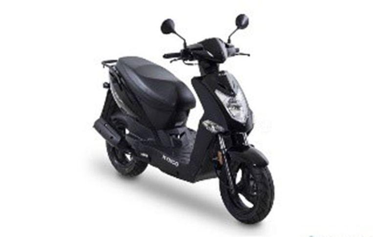 De scooter zou volgens een getuige een KYMCO kunnen zijn met zijn typerende witte voorkant. Of eventueel een MBK type Stunt.