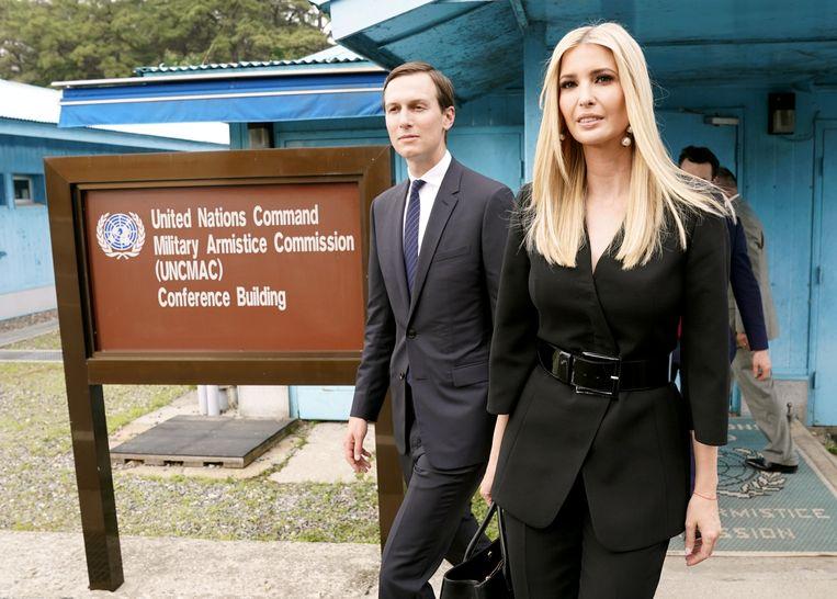 Ivanka Trump en Jared Kushner waren eind juni aanwezig bij het verrassingsbezoek waarbij Donald Trump als eerste Amerikaanse president ooit een voet op Noord-Koreaanse bodem zette.