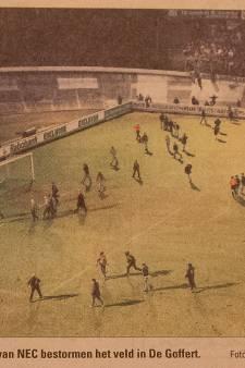 Afscheid oude Goffert: de dag dat NEC-fans in verloren duel met Fortuna Sittard het veld bestormden