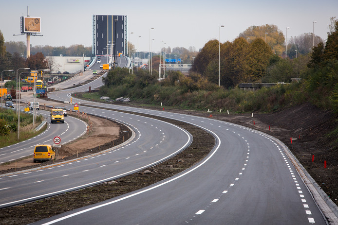 De N457 vlak voor opening eind 2016. Foto: Bouwbedrijf Heijmans