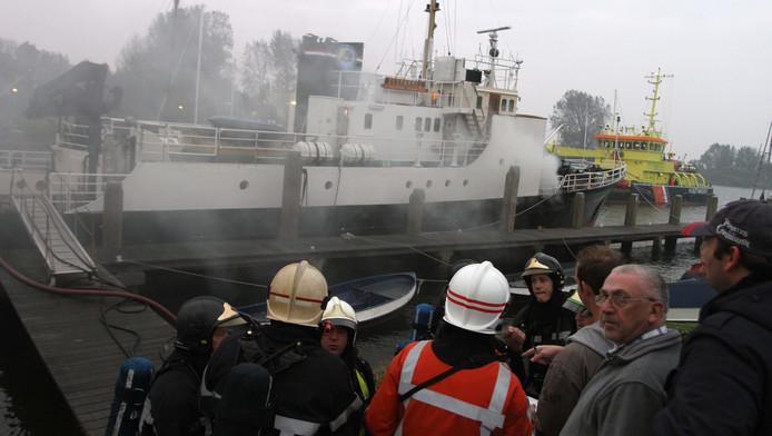 De brand op het scoutingschip in Hellevoetsluis.