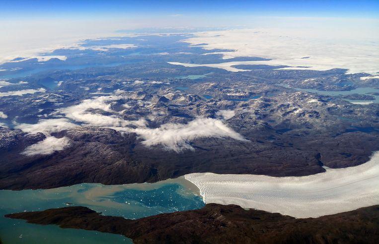 Luchtfoto van Groenland. Beeld EPA