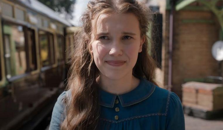 'Enola Holmes', met Millie Bobby Brown als de jongere zus van Sherlock Holmes Beeld Netflix