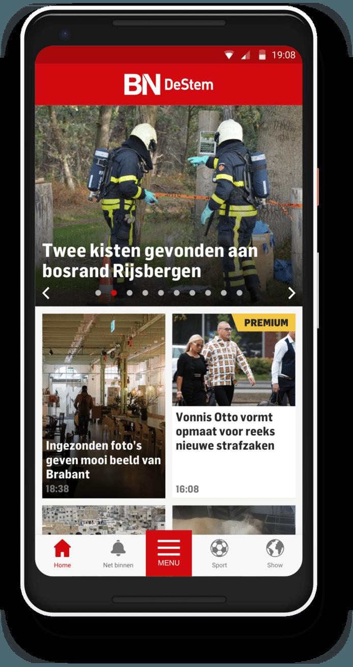De homepage van BN DeStem.