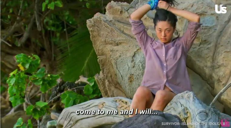 Een producer van 'Survivor' vraagt Kellee om hem om hulp te vragen wanneer het te gortig wordt.