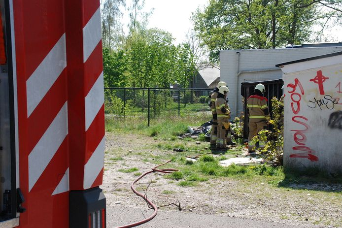 Brandje in een bijgebouw van een voormalig Chinees restaurant in Boxtel.