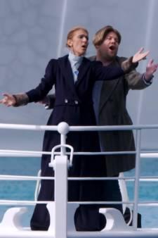 """Céline Dion rejoue la scène mythique de """"Titanic"""""""