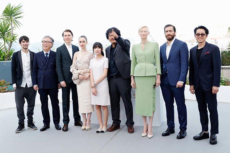 De cast van 'Okja' op het filmfestival van Cannes