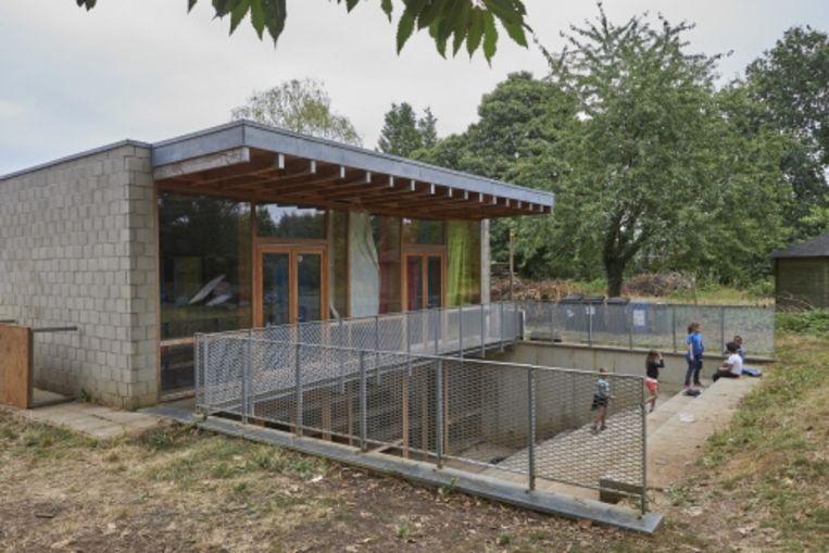 Het Scoutslokaal Boven-lo: met een beperkt budget werd een maximaal resultaat behaald.