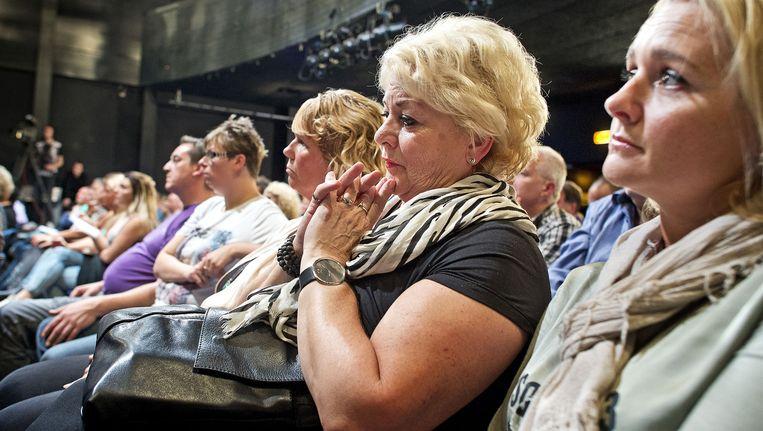 Burgers op een bijeenkomst in Purmerend over de mogelijke komst van asielzoekerscentrum. Beeld Guus Dubbelman / de Volkskrant