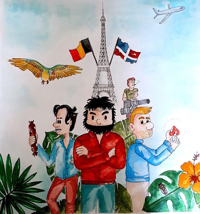 """Affiche du nouveau spectacle des """"Chevals de Trois""""."""