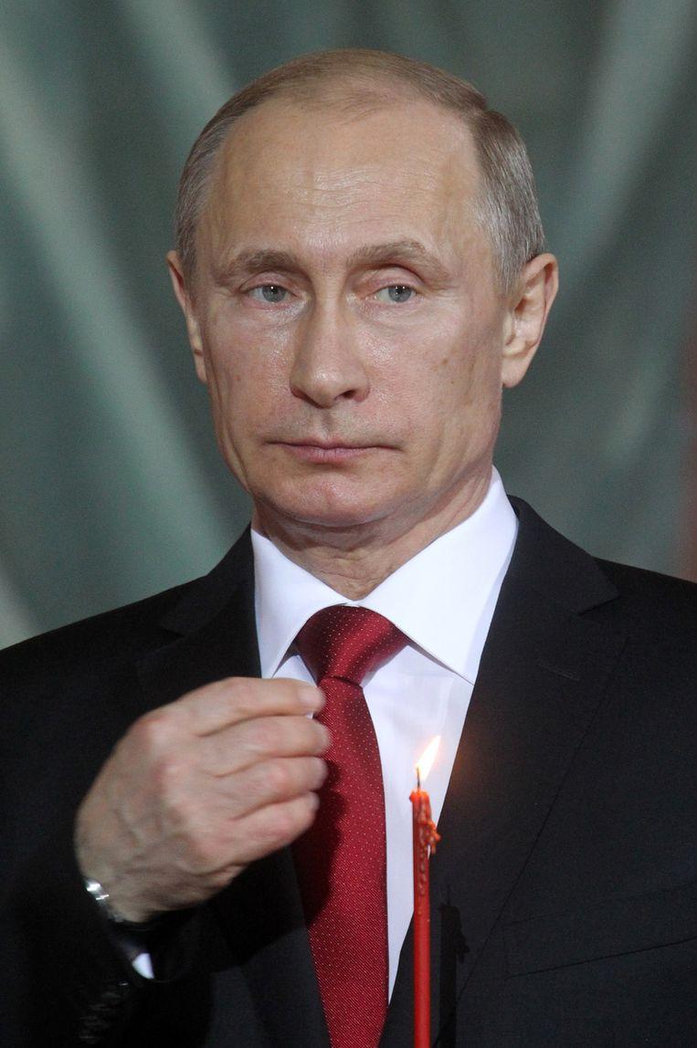 President Vladimir Poetin van Rusland. Beeld getty