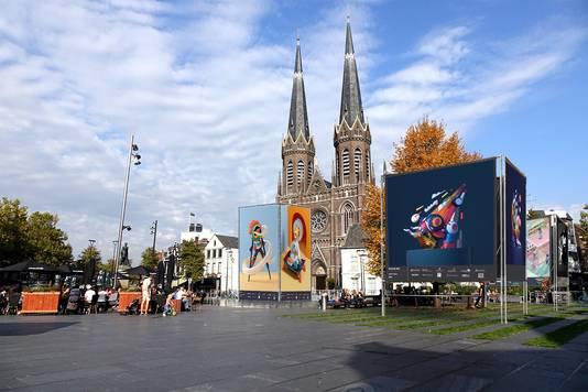 Enkele voorbeelden geven een impressie hoe Illustrada er straks op verschillende plekken in Tilburg uit moet komen te zien.