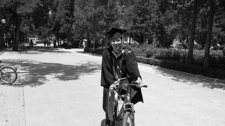 De Leidse sterrenkundige Maolin Zhang die omkwam door de brand die Sean M. zou hebben aangestoken. Beeld Universiteit Leiden
