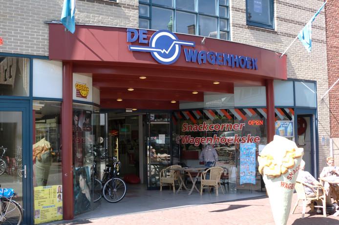 Winkelcentrum De Wagenhoek in Oudenbosch, veel winkelpanden staan er inmiddels leeg.