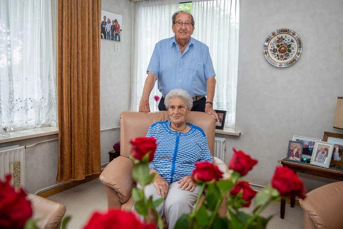 Jan en Annie Foudraine uit Goes waren dinsdag 65 jaar getrouwd.