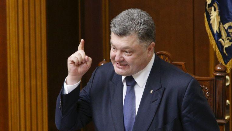 De Oekraïense president Petro Poroshenko. Beeld reuters