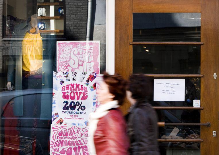 De doorstart is definitief van de baan. Alleen het merk Oilily is verkocht aan Willem Olsthoorn, die het modebedrijf in de jaren zestig heeft opgericht. Foto ANP/Ade Johnson Beeld