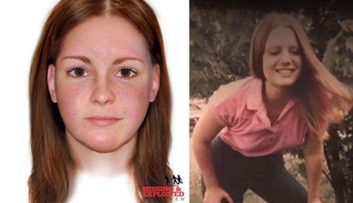 Een computerbeeld van het 'Buckskin meisje' en een foto van Marcia King