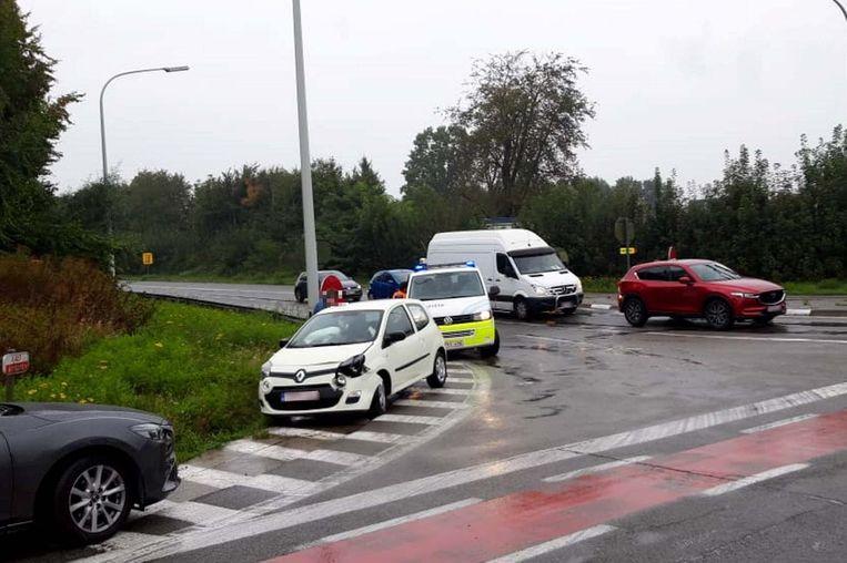 Woensdagochtend gebeurde een ongeval aan de afrit van de E40 richting Brussel.