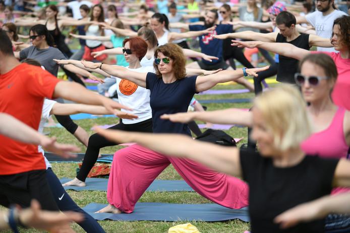 Het Worpplantsoen is komende zondag het toneel van een grote yogaoefening in het kader van 1250 jaar Deventer.