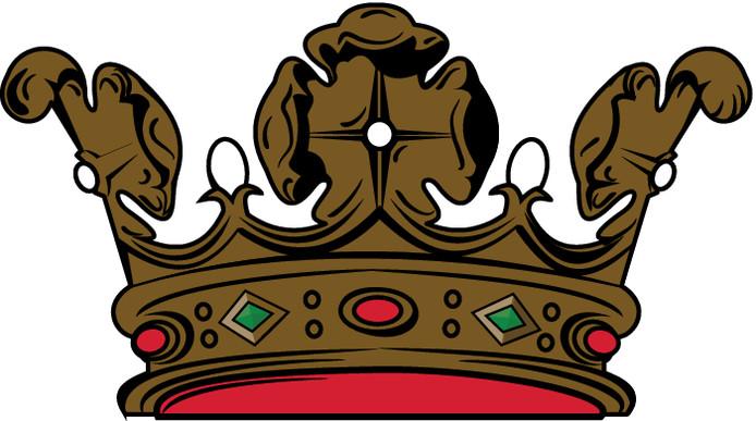De kroon van het gemeentewapen Zevenaar.