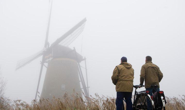 Molen bij Kinderdijk, Zuid-Holland.  Beeld ANP