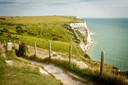 De witte kliffen van Dover.
