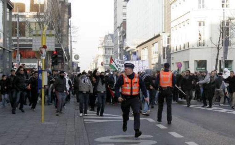 De betoging begon vreedzaam, maar liep uit de hand.