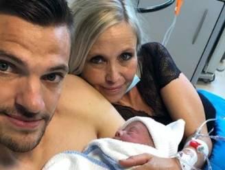 Hendrik Van Crombrugge en partner Tanja trotse ouders van zoontje Gabriel
