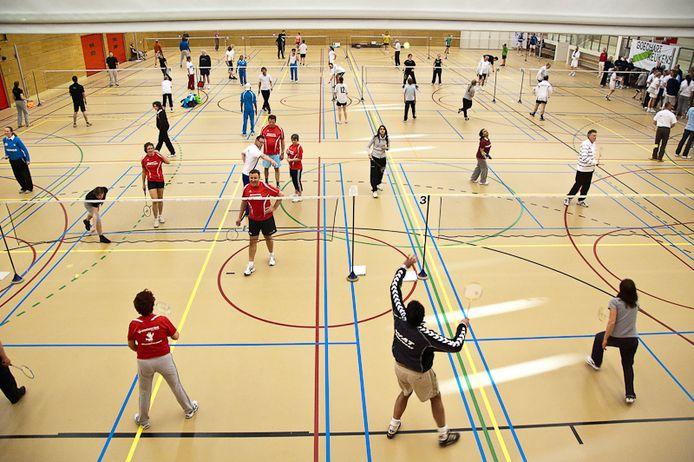 Eén van de sporthallen van de gemeente, de Limeshal.