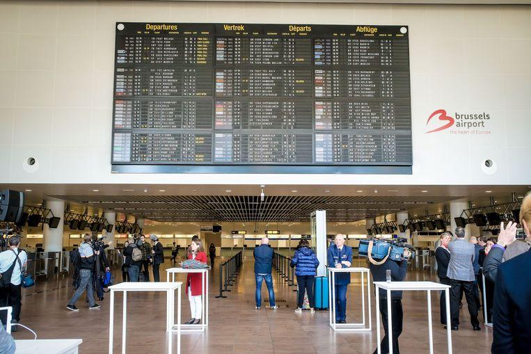De vertrekhal van Brussels Airport, waar een van de feiten gebeurde.