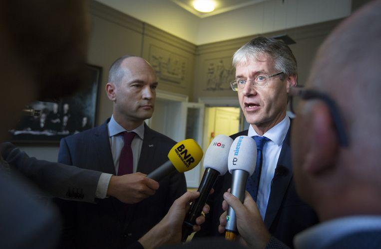 Gert-Jan Segers, samen met voorganger Arie Slob Beeld null
