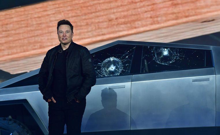 """Volgens Elon Musk kunnen er """"met geen mogelijkheid krassen op de auto komen""""."""