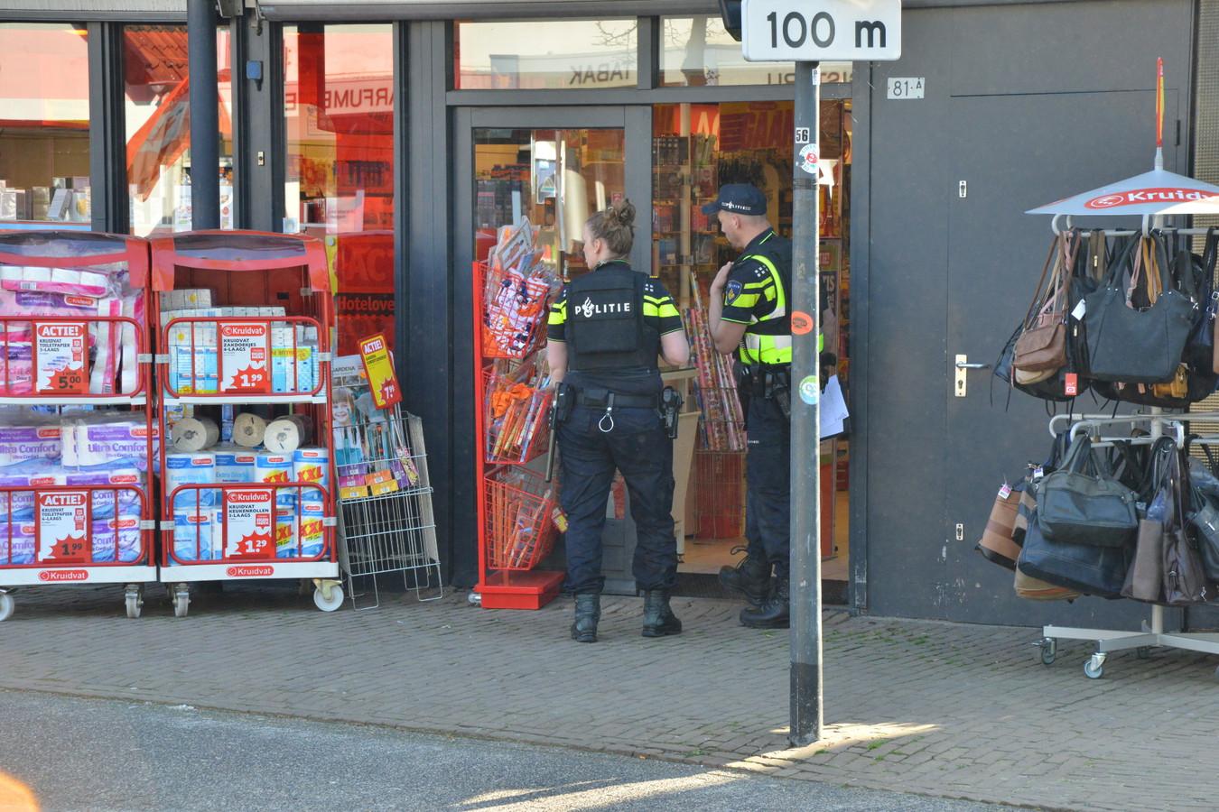 De Kruidvat in Ulvenhout werd slachtoffer van een gewapende overval.