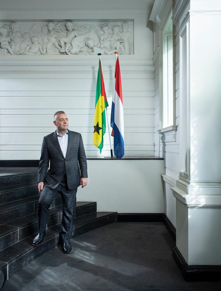 Pieter van Welzen, honorair consul Sao Tomé en Principe: 'Ik werd op het eiland vrij snel meegesleept.' Beeld Friso Keuris