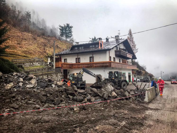 De natuur in de Dolomieten huilt