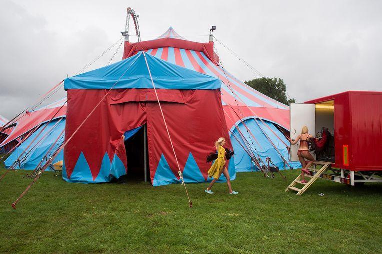 Circus Herman Renz in Bergen op Zoom. Het circus dreigt failliet te gaan. Beeld null