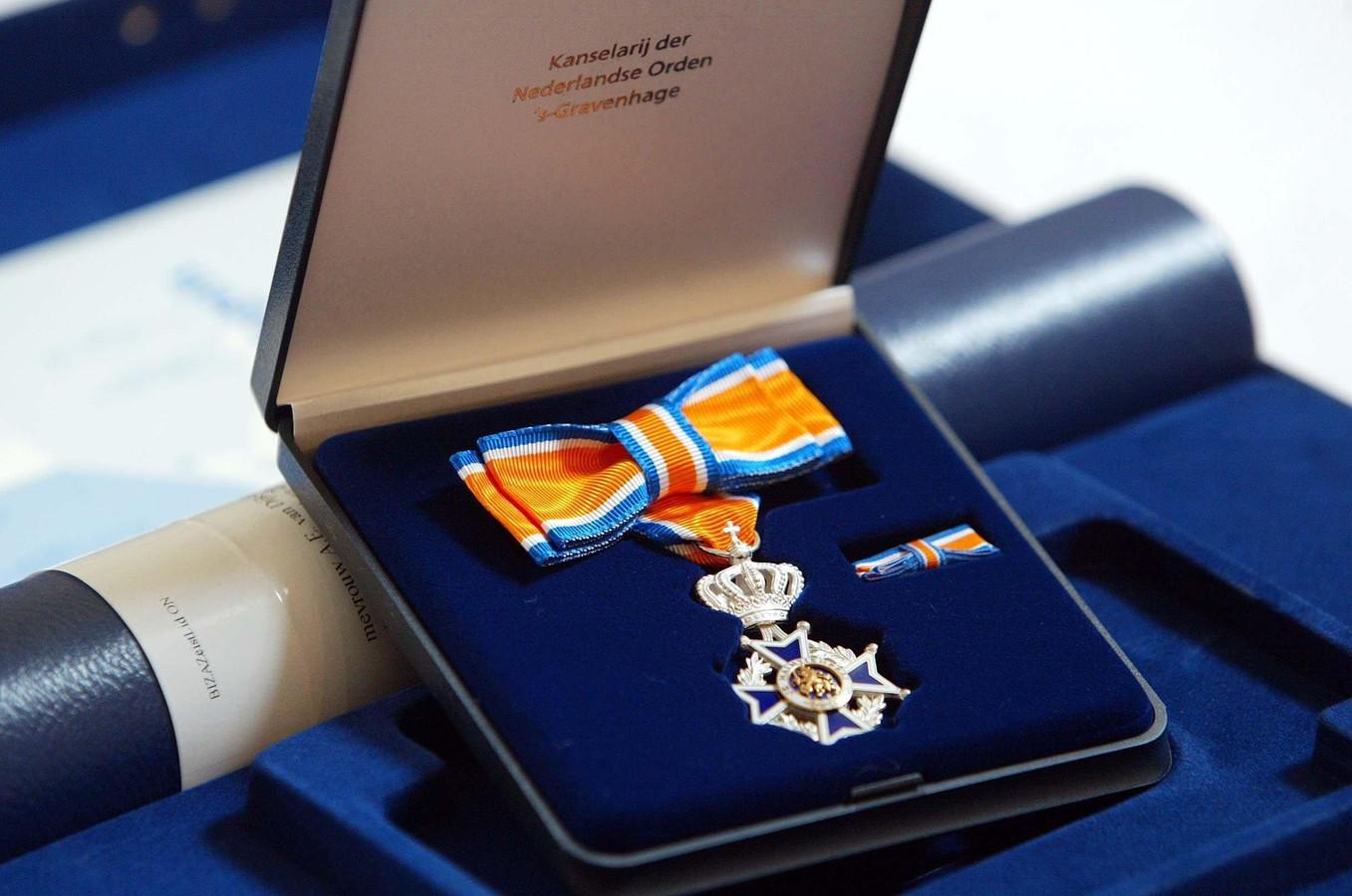 Een koninklijke onderscheiding, behorend bij de Orde van Oranje-Nassau. (Archieffoto).