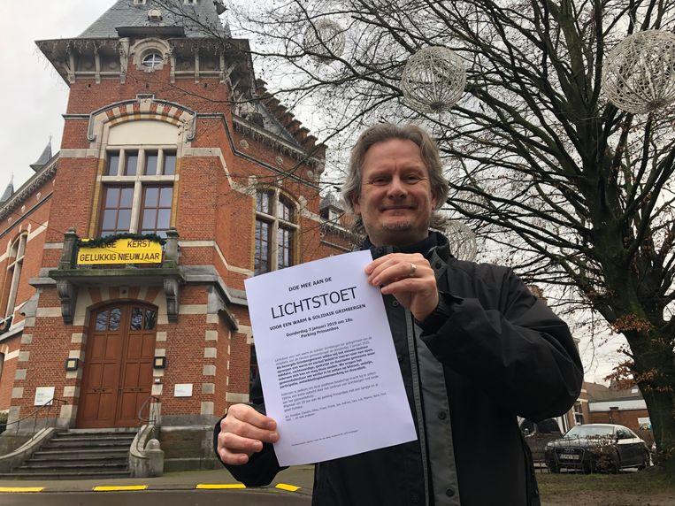 Frank Van Den Block roept iedereen op om donderdag voor de gemeenteraad mee op te stappen naar het gemeentehuis.