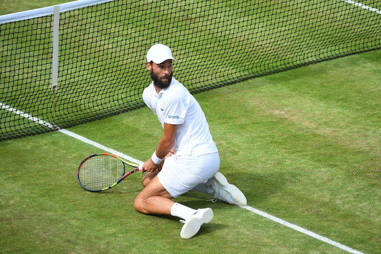 De Fransman Benoit Paire laat zich in Londen van zijn beste kant zien. Vandaag neemt hij het op tegen titelverdediger Andy Murray. Beeld Photo News